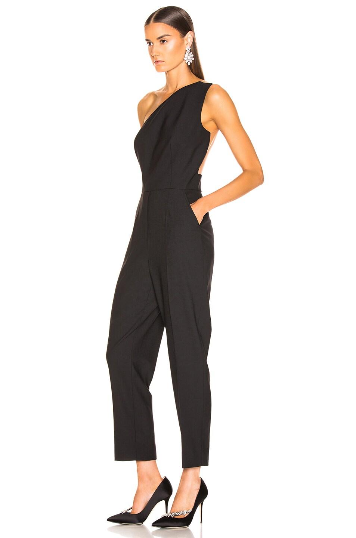 Image 3 of Oscar de la Renta One Shoulder Jumpsuit in Black