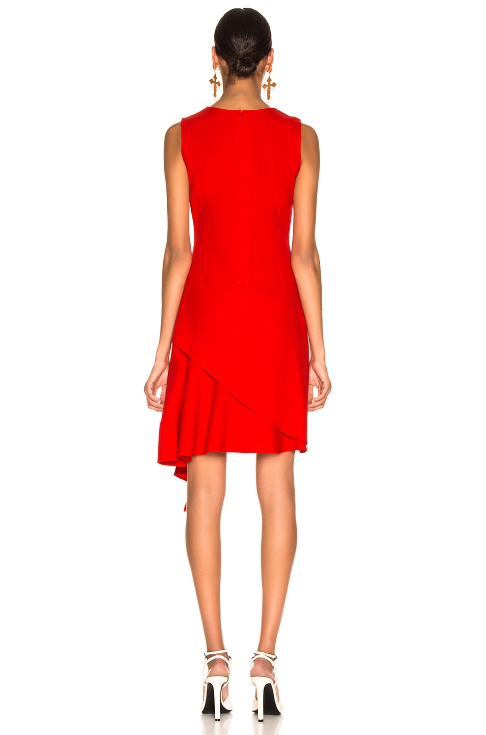 Image 4 of Oscar de la Renta Slit Dress in Cayenne