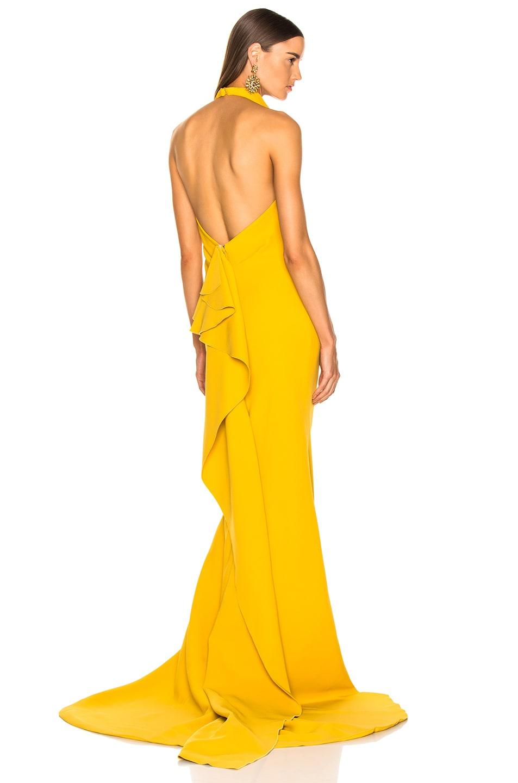 Image 1 of Oscar de la Renta Sleeveless Gown in Ochre