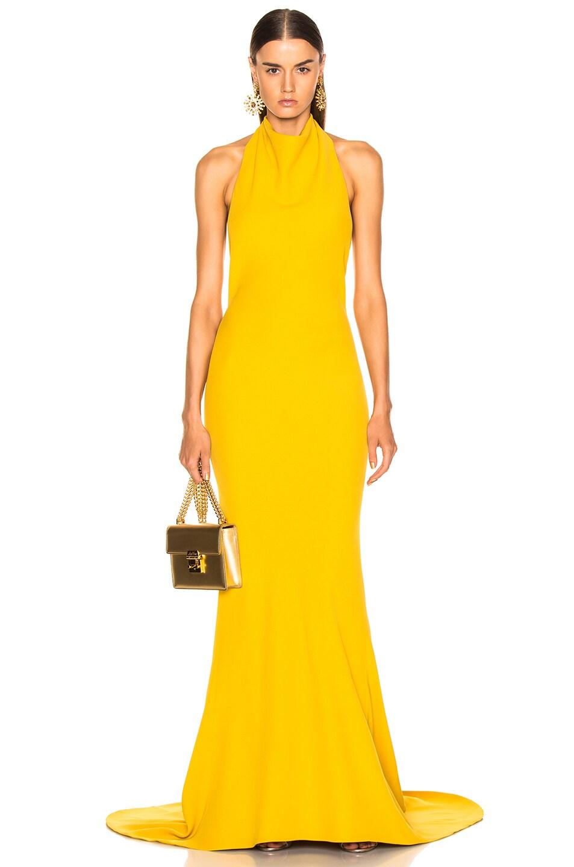 Image 2 of Oscar de la Renta Sleeveless Gown in Ochre