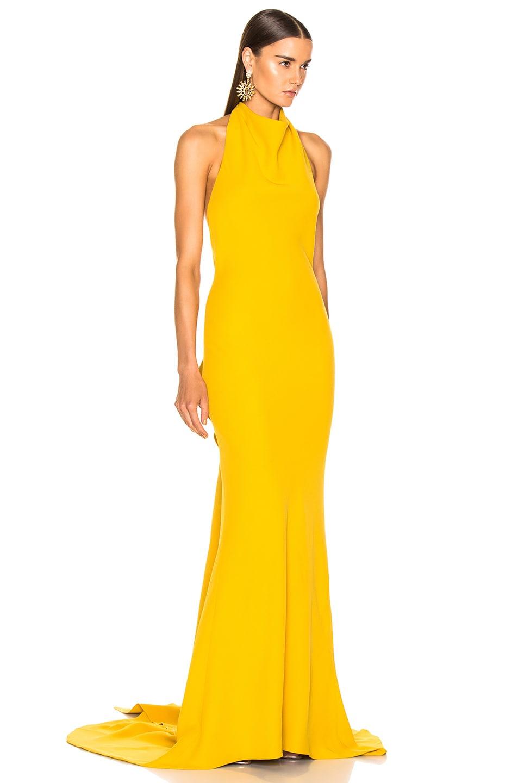 Image 3 of Oscar de la Renta Sleeveless Gown in Ochre