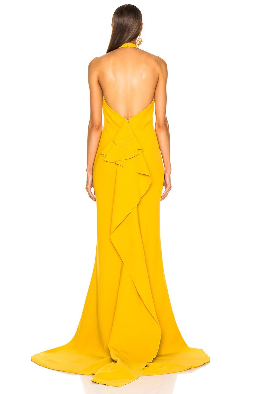 Image 4 of Oscar de la Renta Sleeveless Gown in Ochre