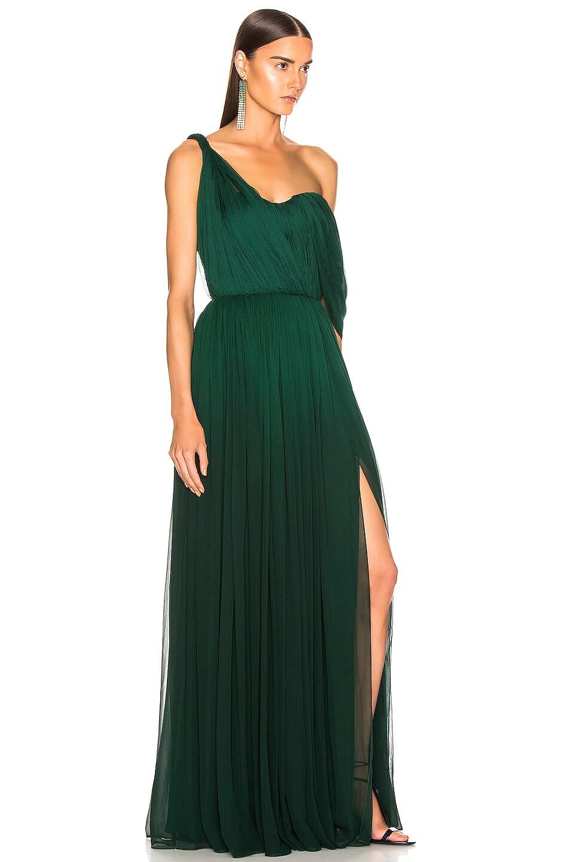 Image 2 of Oscar de la Renta Drape Gown in Basil