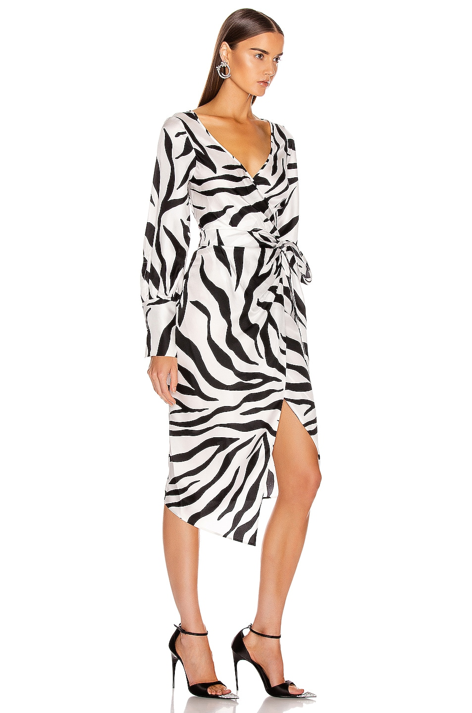 Image 2 of Oscar de la Renta Midi Day Dress in White & Black