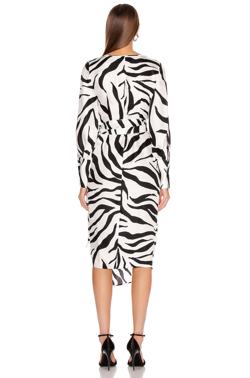 Image 4 of Oscar de la Renta Midi Day Dress in White & Black