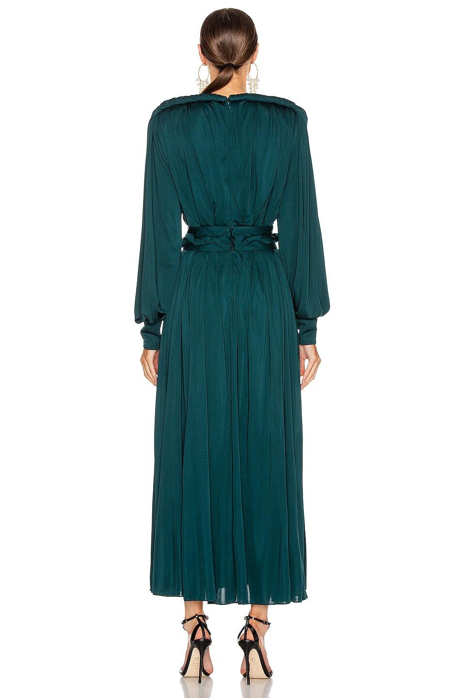 Image 3 of Oscar de la Renta Day Dress in Spruce