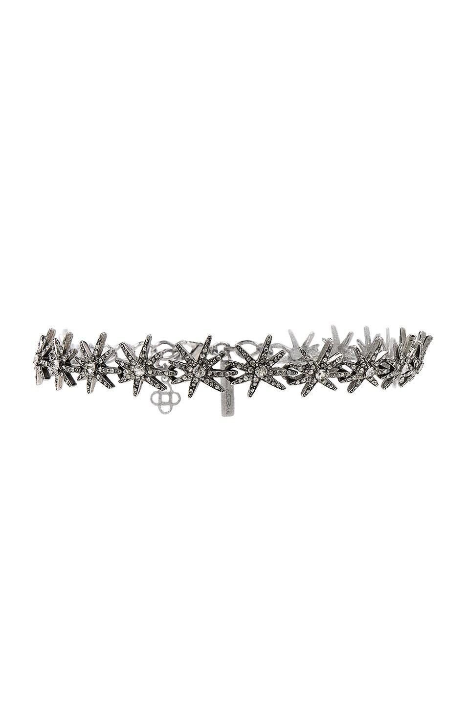Image 1 of Oscar de la Renta Crystal Fireworks Choker in Silver