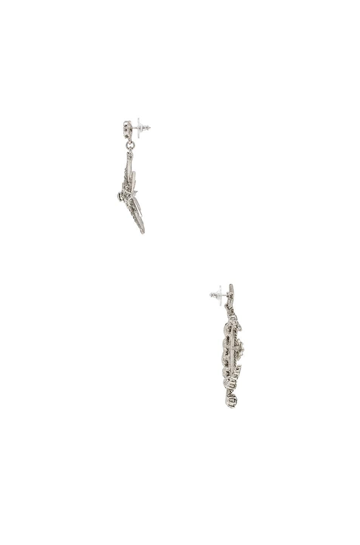 Image 2 of Oscar de la Renta Moon & Stars Earrings in Black Diamond