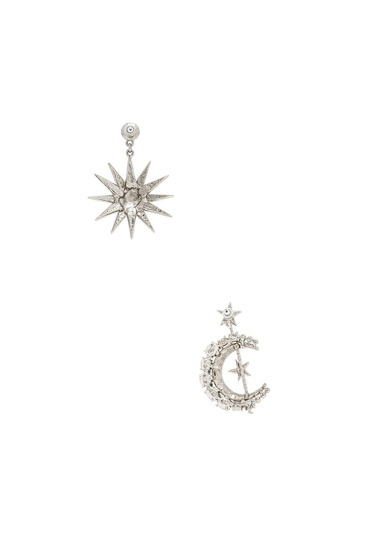 Image 3 of Oscar de la Renta Moon & Stars Earrings in Black Diamond