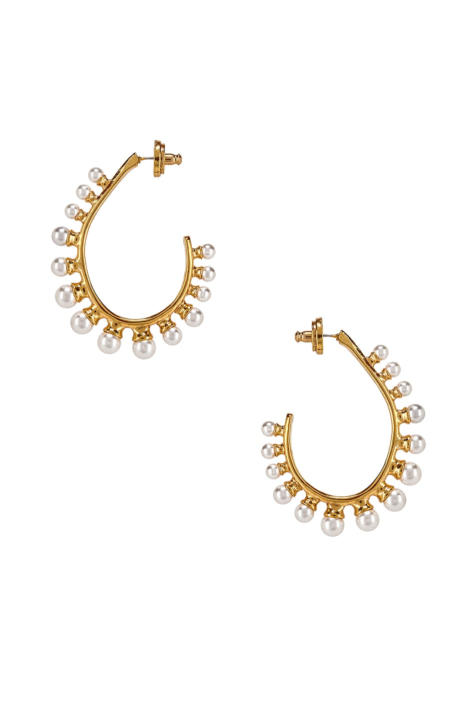 Image 1 of Oscar de la Renta Pearl Earrings in Gold