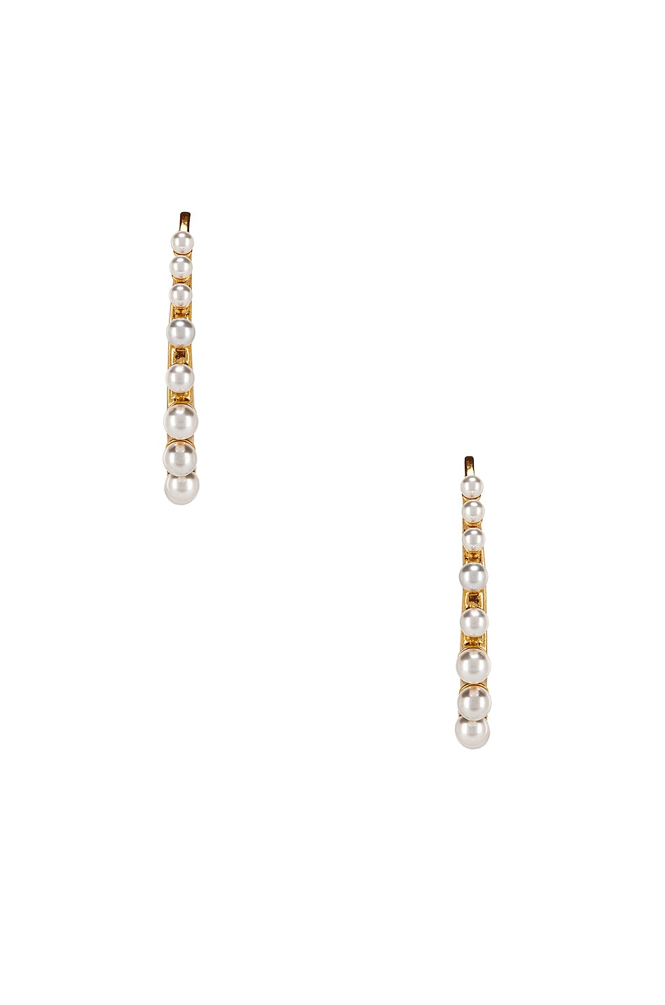 Image 3 of Oscar de la Renta Pearl Earrings in Gold