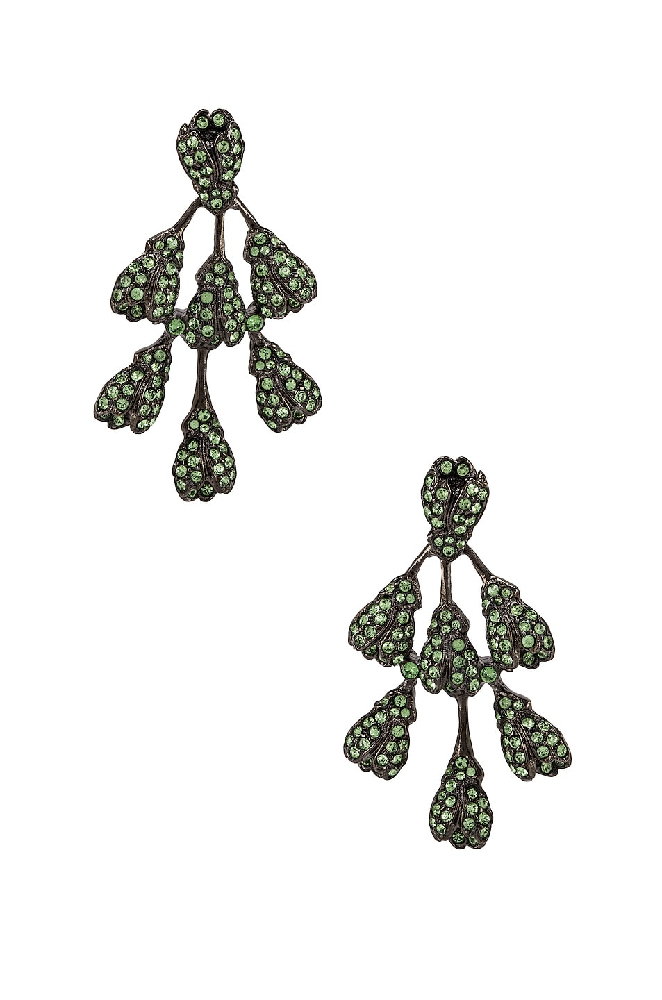 Image 1 of Oscar de la Renta Vine Drop Earrings in Peridot