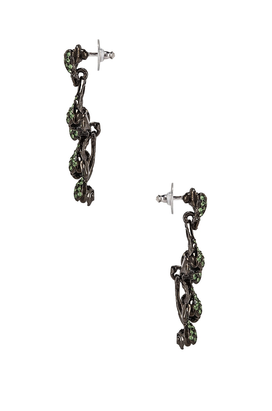Image 3 of Oscar de la Renta Vine Drop Earrings in Peridot