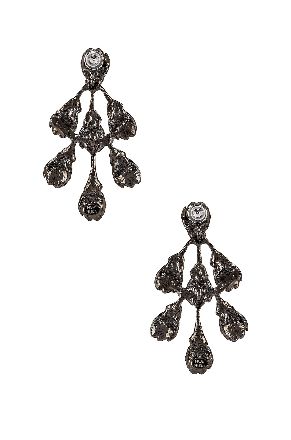 Image 4 of Oscar de la Renta Vine Drop Earrings in Peridot