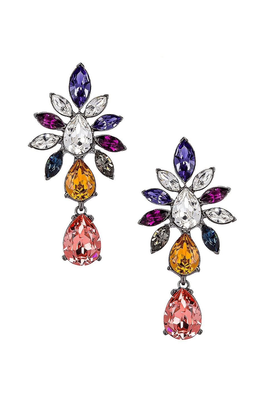 Image 1 of Oscar de la Renta Navette Earrings in Multi