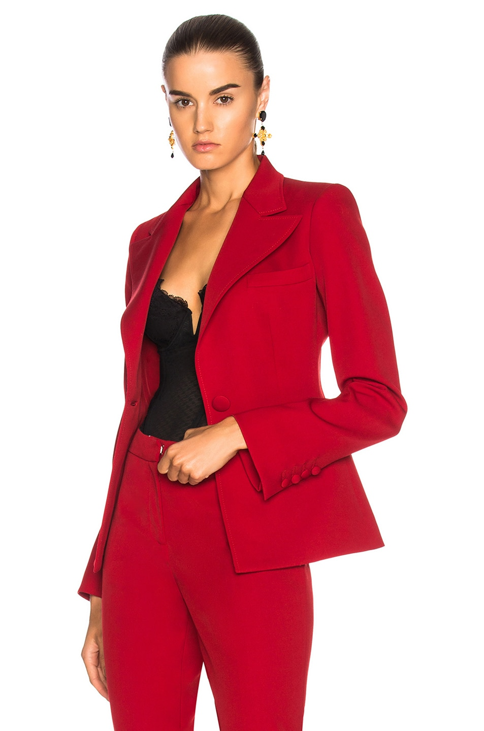 Image 1 of Oscar de la Renta for FWRD Suit Jacket in Red