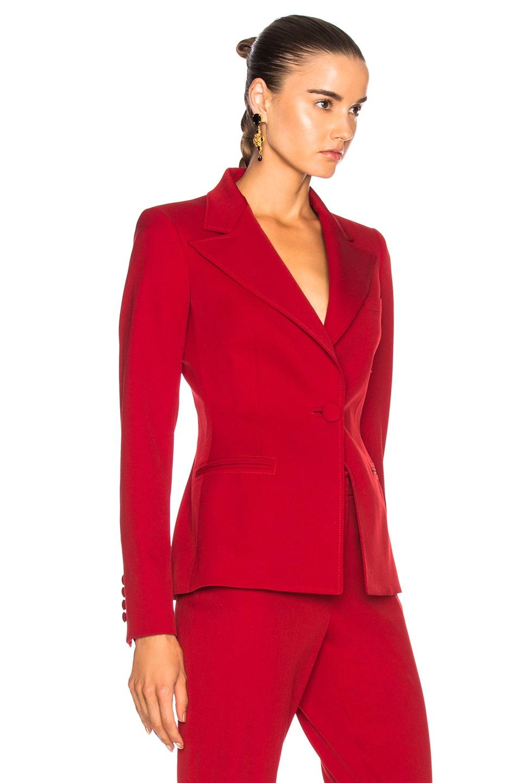 Image 3 of Oscar de la Renta for FWRD Suit Jacket in Red
