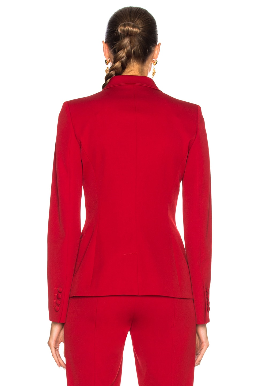 Image 4 of Oscar de la Renta for FWRD Suit Jacket in Red
