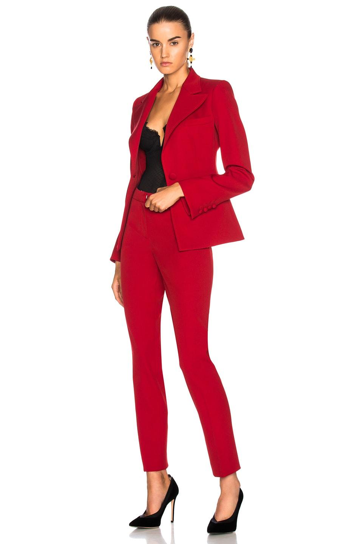 Image 5 of Oscar de la Renta for FWRD Suit Jacket in Red
