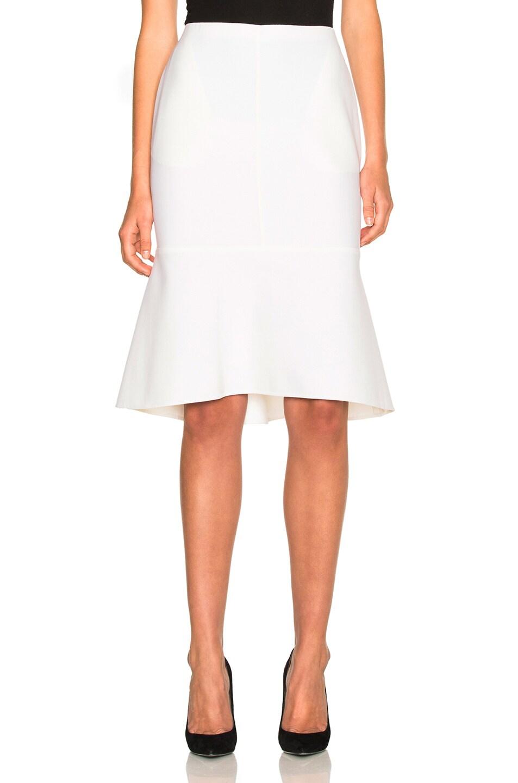 Image 1 of Oscar de la Renta Flare Hem Skirt in Vanilla