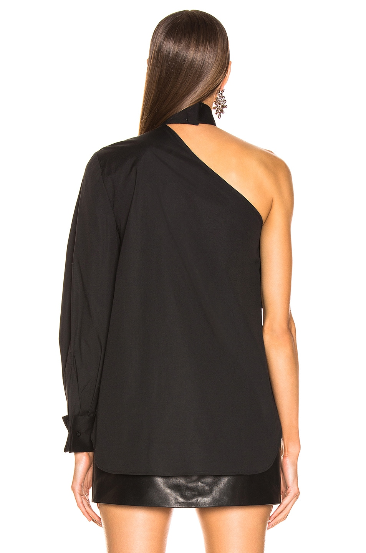 Image 4 of Oscar de la Renta Ruffle One Shoulder Top in Black