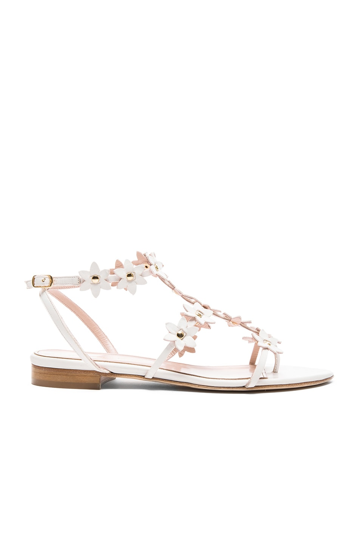 Image 1 of Oscar de la Renta Jenisa Leather Sandals in White