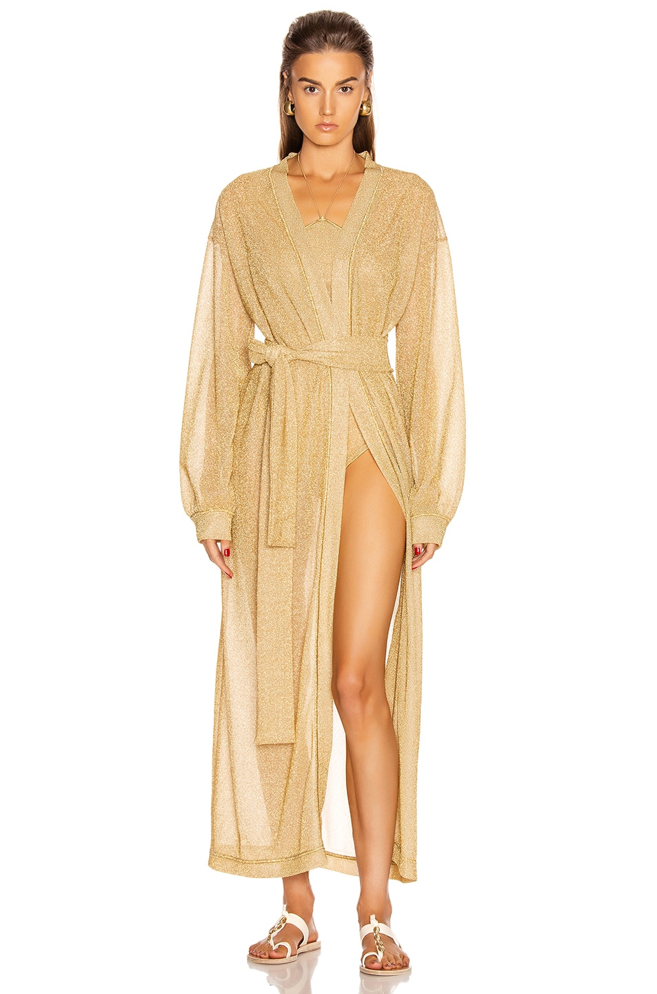 Image 2 of Oseree Long Kaftan in Gold