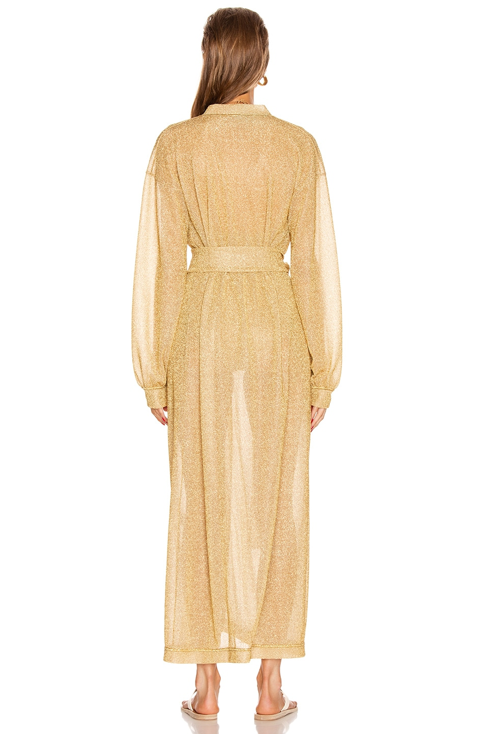 Image 4 of Oseree Long Kaftan in Gold