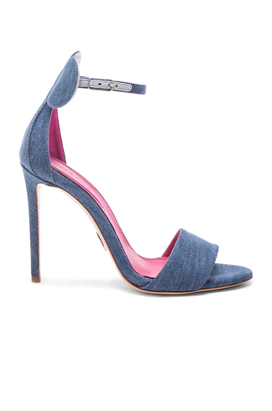 Image 1 of Oscar Tiye Denim Minnie Sandals in Blue Denim
