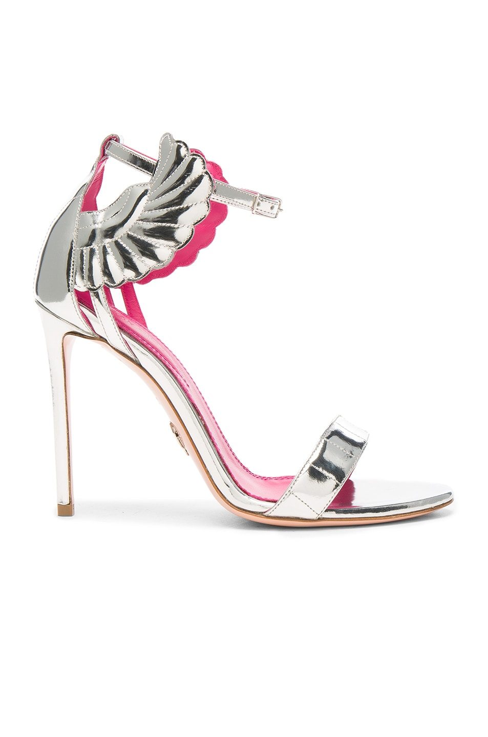 Image 1 of Oscar Tiye Leather Malikah Sandals in Silver Mirror