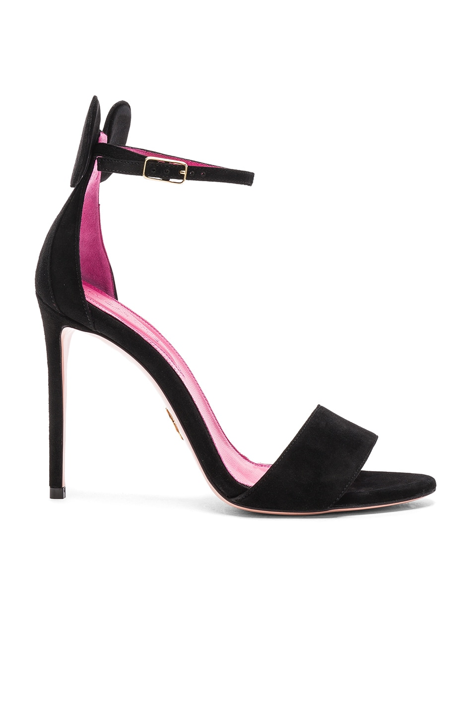 Image 1 of Oscar Tiye Suede Minnie Sandals in Black Suede