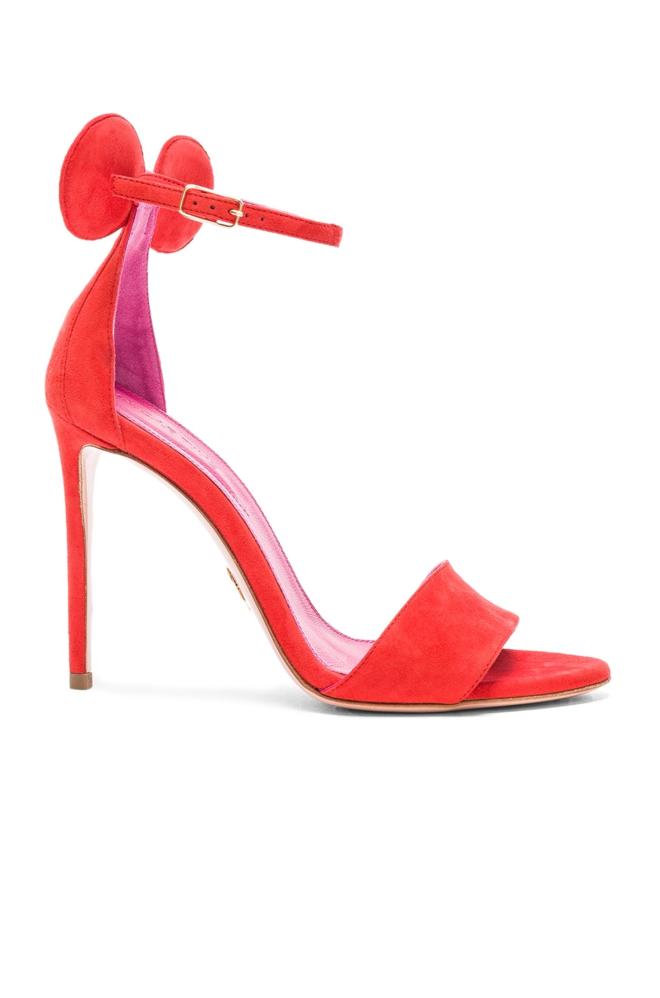 Image 1 of Oscar Tiye Suede Minnie Sandals in Red Suede