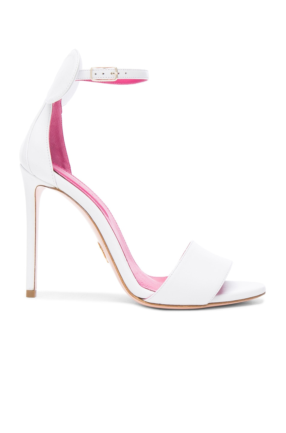 Image 1 of Oscar Tiye Leather Minnie Sandals in White Leather