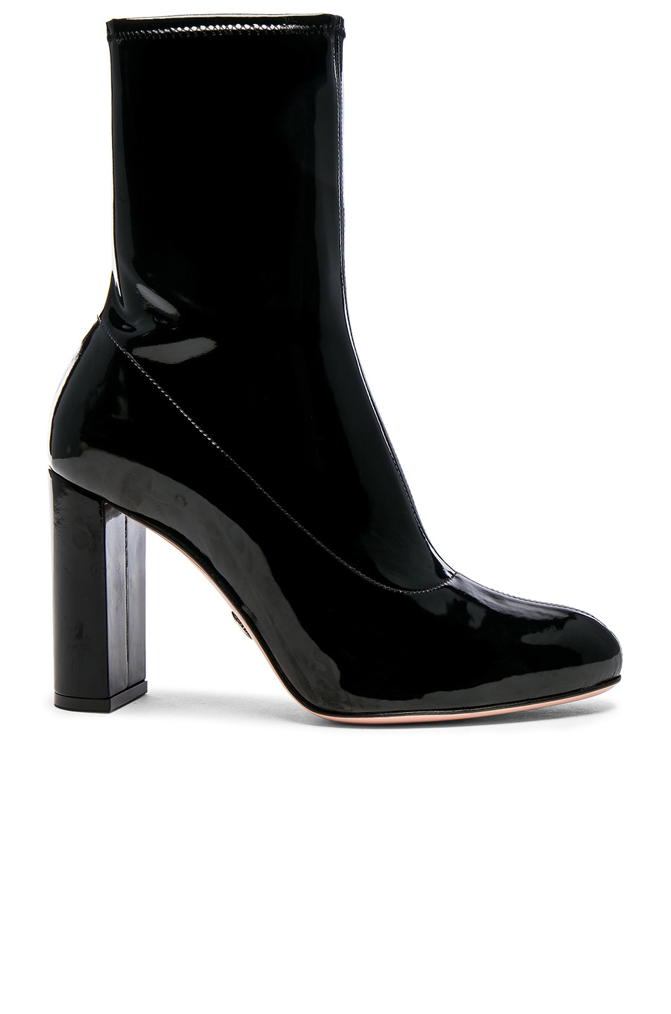 Image 1 of Oscar Tiye Patent Leather Giorgia Boots in Black Latex