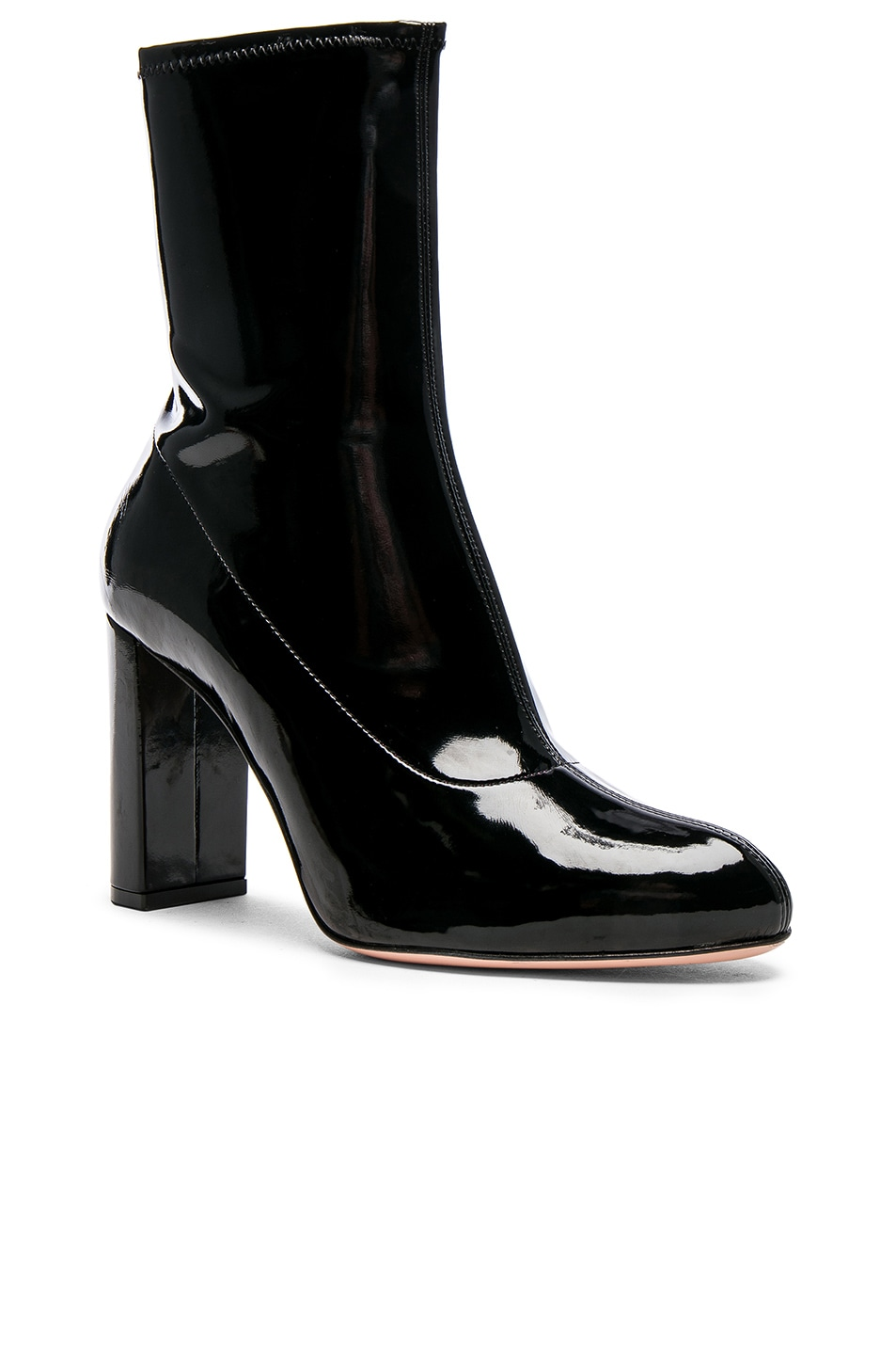 Image 2 of Oscar Tiye Patent Leather Giorgia Boots in Black Latex
