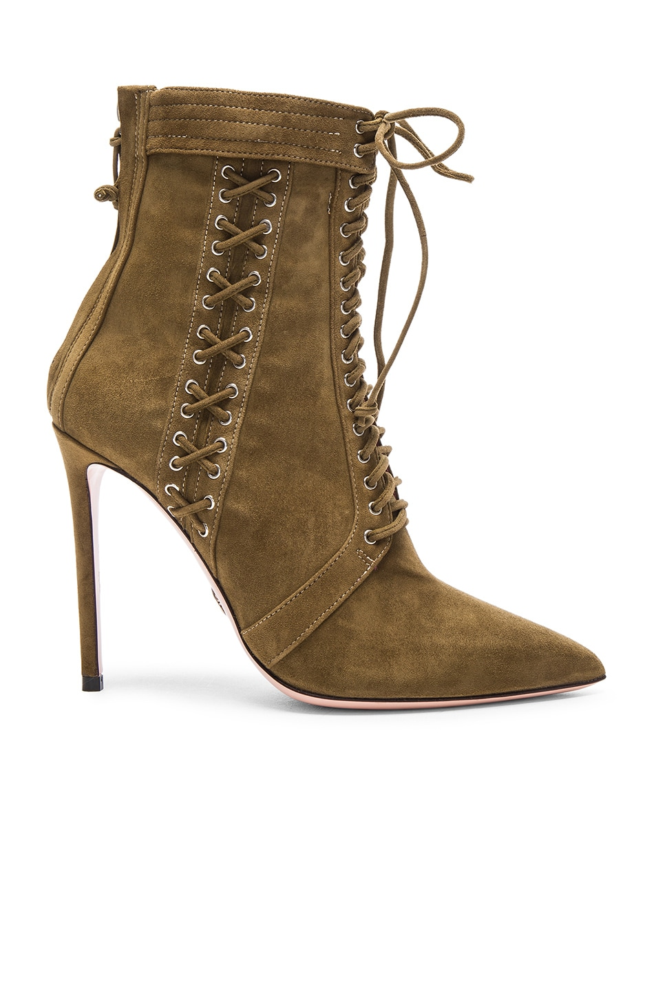 Image 1 of Oscar Tiye Samira Suede Booties in Military