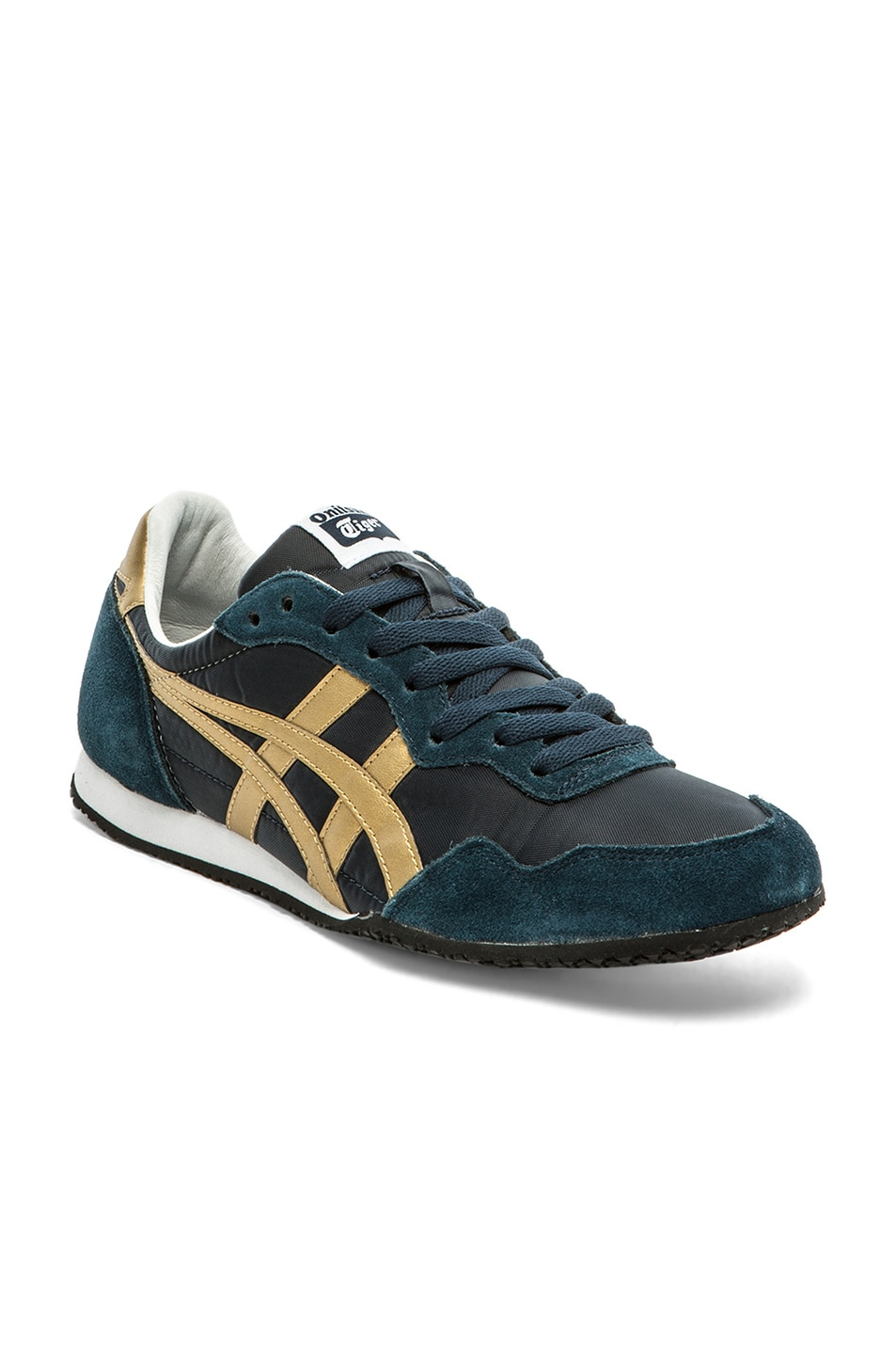 Image 1 of Onitsuka Tiger Serrano in Navy & Gold