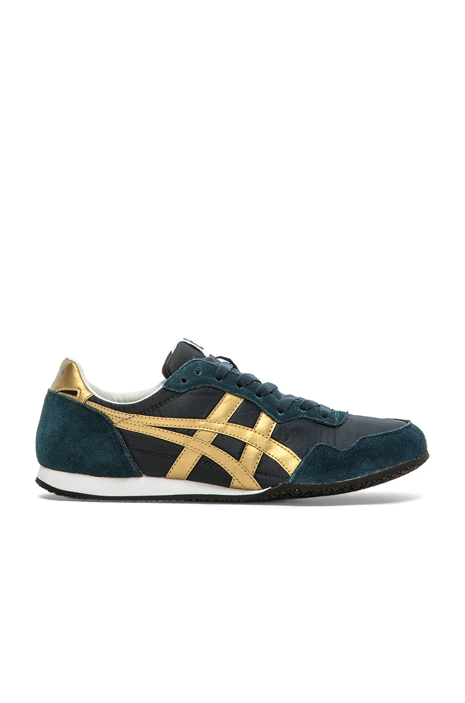 Image 2 of Onitsuka Tiger Serrano in Navy & Gold