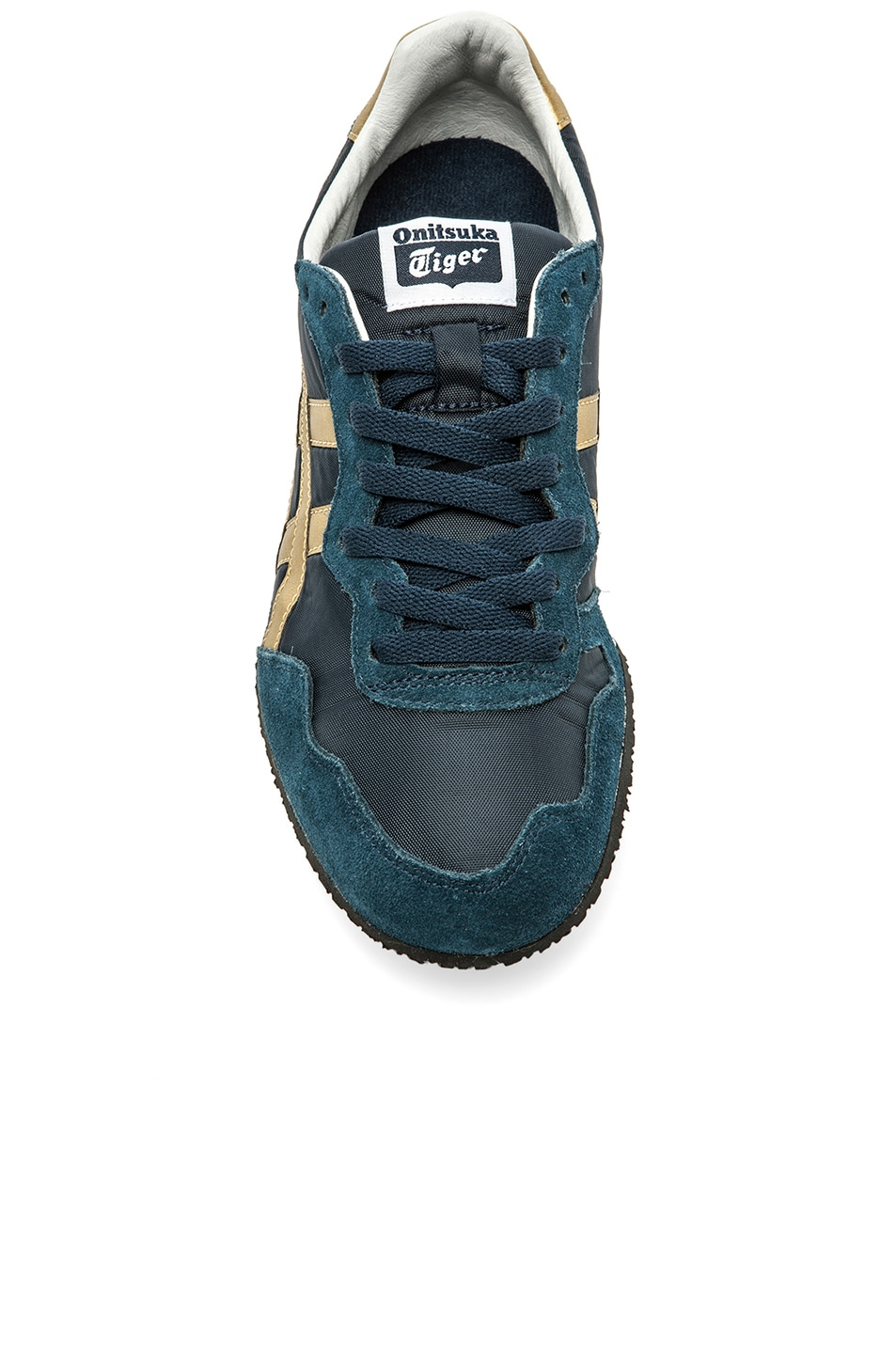 Image 3 of Onitsuka Tiger Serrano in Navy & Gold