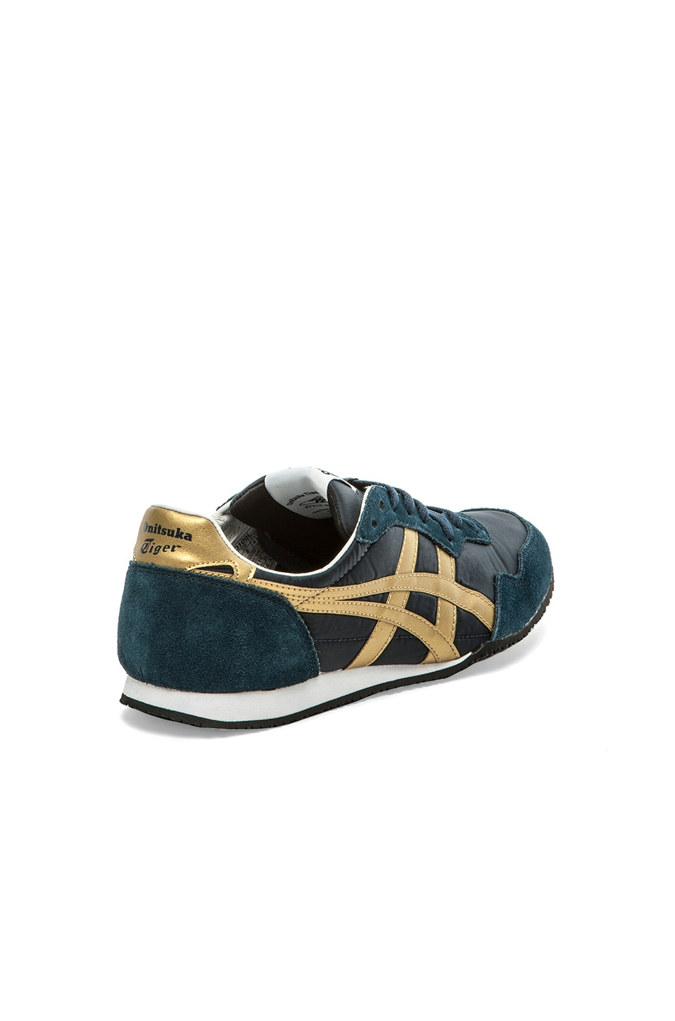 Image 4 of Onitsuka Tiger Serrano in Navy & Gold