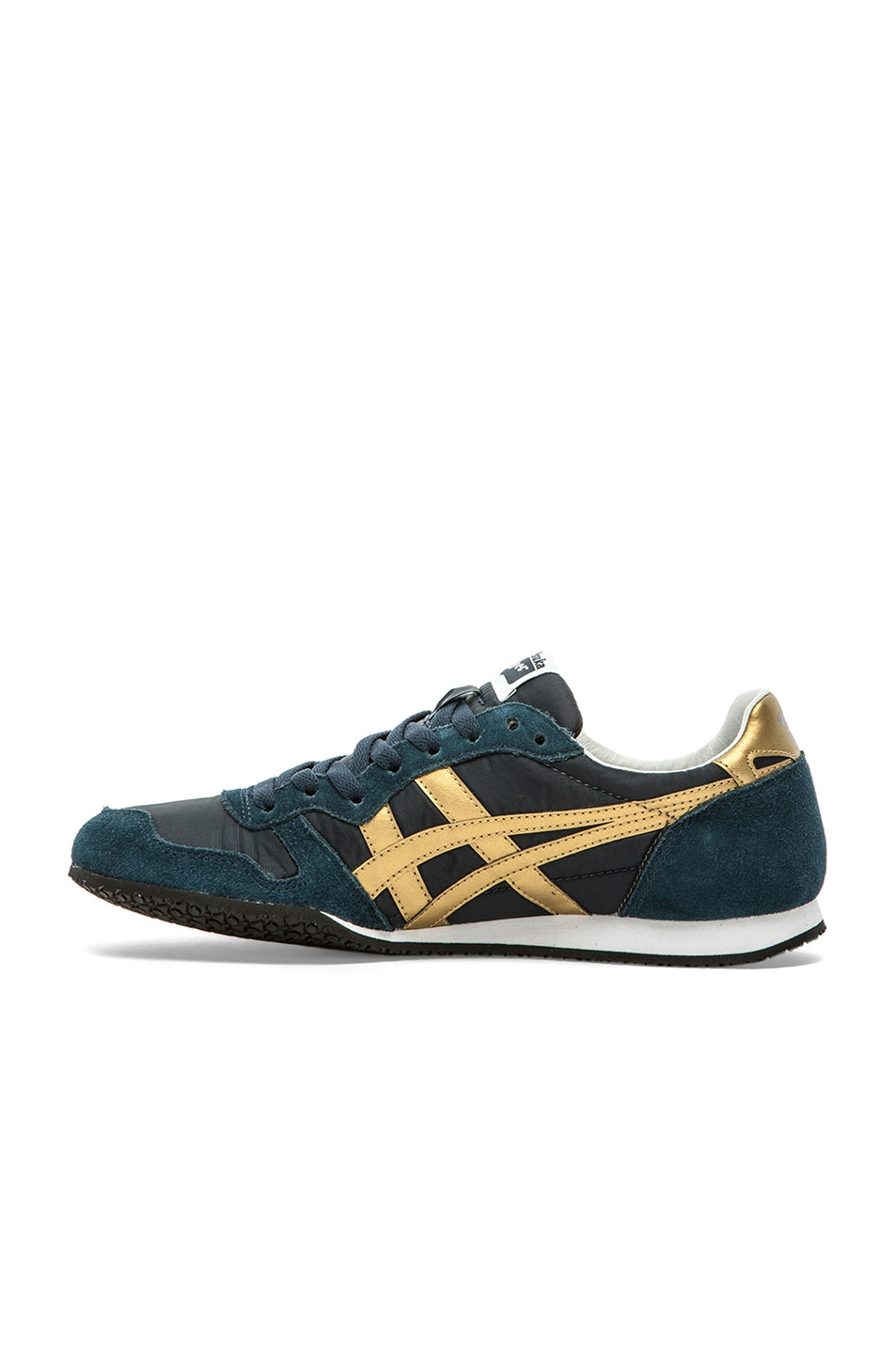 Image 5 of Onitsuka Tiger Serrano in Navy & Gold