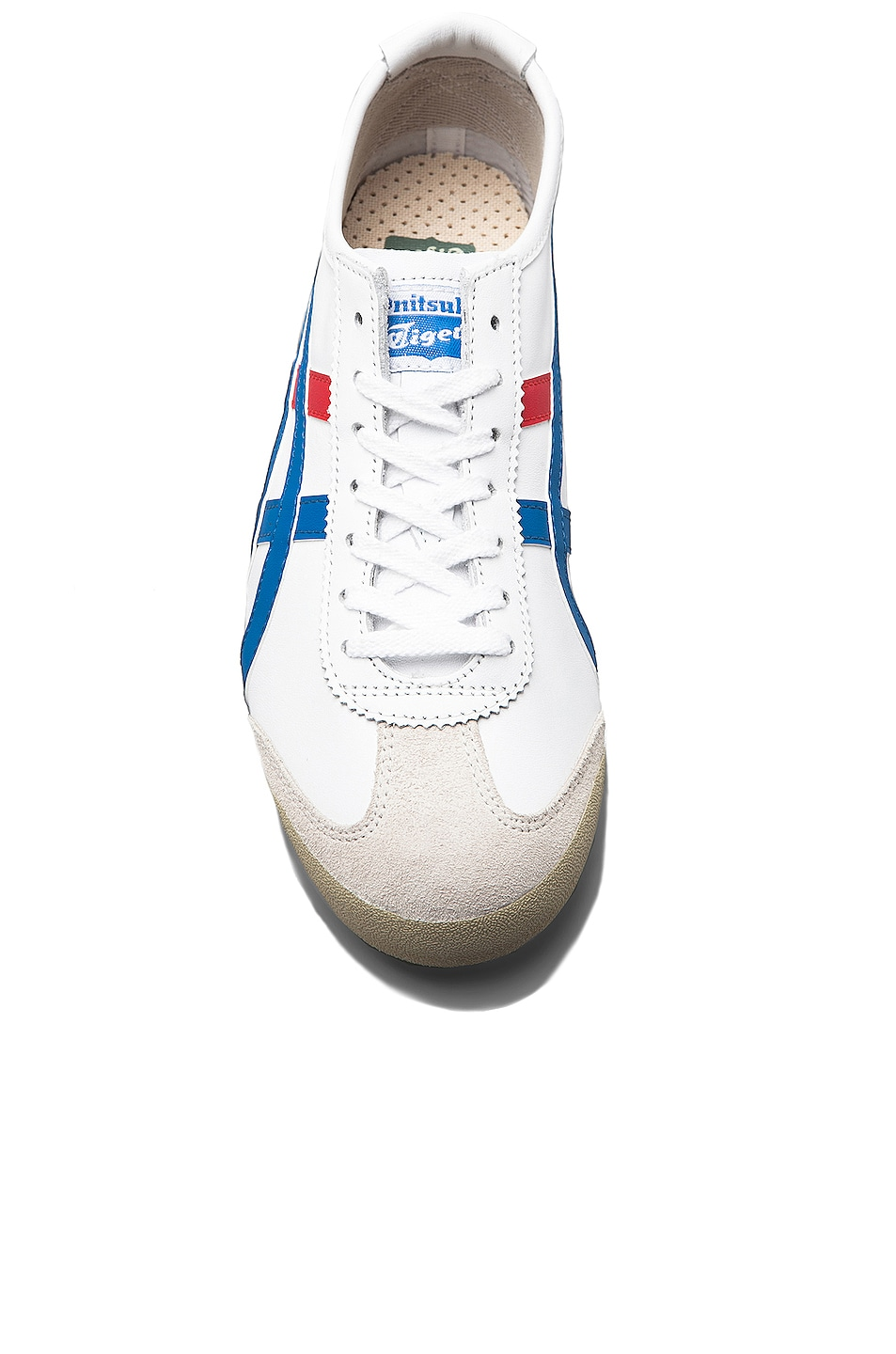 Image 3 of Onitsuka Tiger Mexico 66 in White & Blue
