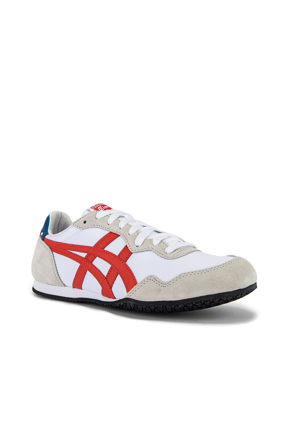 Image 1 of Onitsuka Tiger Serrano in White & Fire Opal