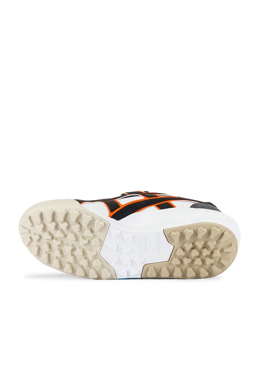 Image 6 of Onitsuka Tiger AP Big Logo Runner in White & Shocking Orange