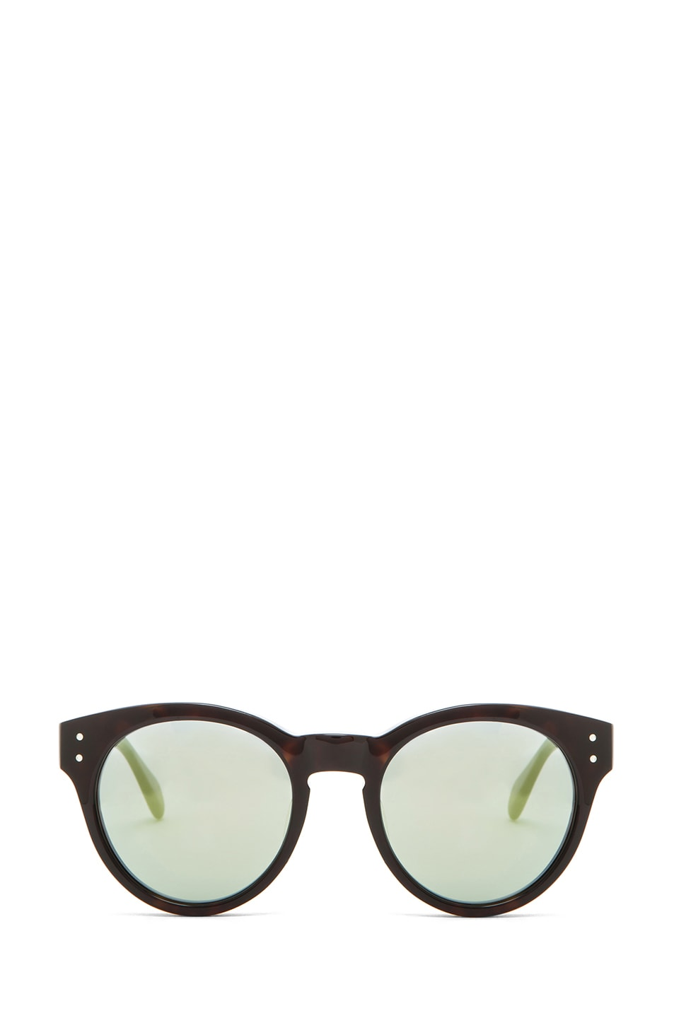 Image 1 of Oliver Peoples for Maison Kitsune Paris Sunglasses in Dark Tortoise