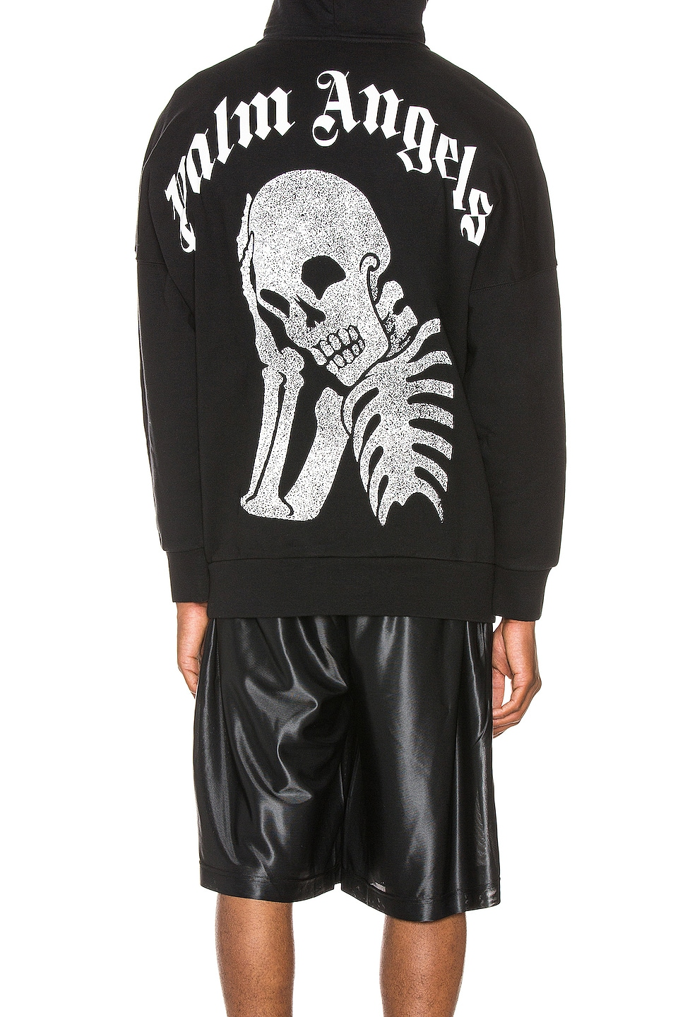 Image 1 of Palm Angels Thinking Skull Hoodie in Black & White