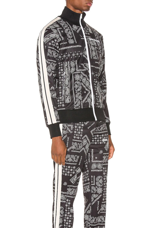 Image 3 of Palm Angels Bandana Track Jacket in Black & White