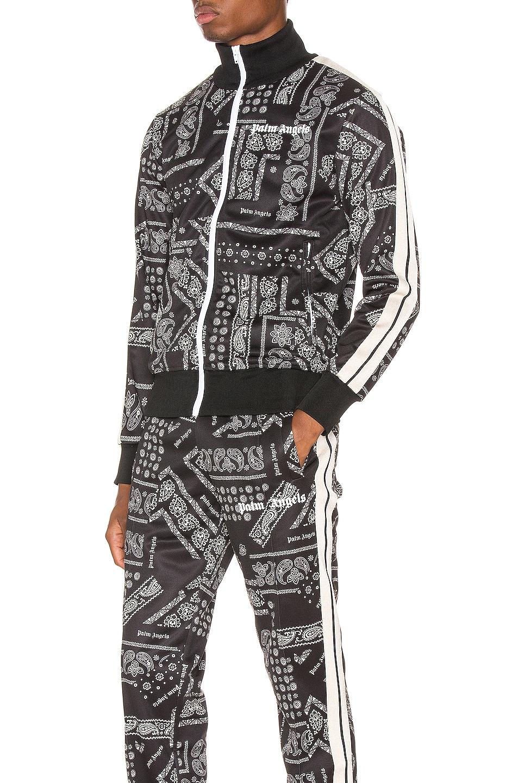 Image 4 of Palm Angels Bandana Track Jacket in Black & White
