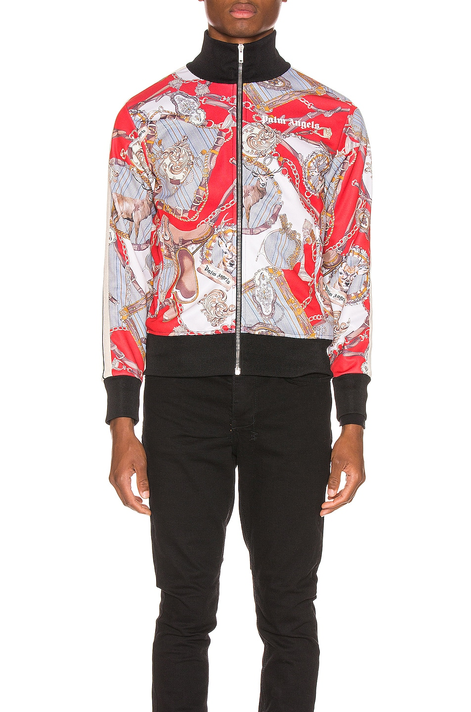 Image 2 of Palm Angels Hot Bridle Track Jacket in Multi