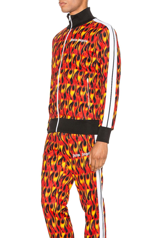 Image 4 of Palm Angels Burning Track Jacket in Black & Multi